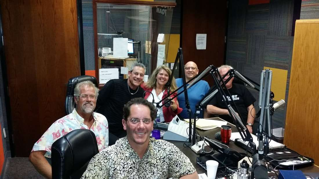 Charlie Johnson with fellow EcoFest organizers and DJs for Green Machine Radio AM1170