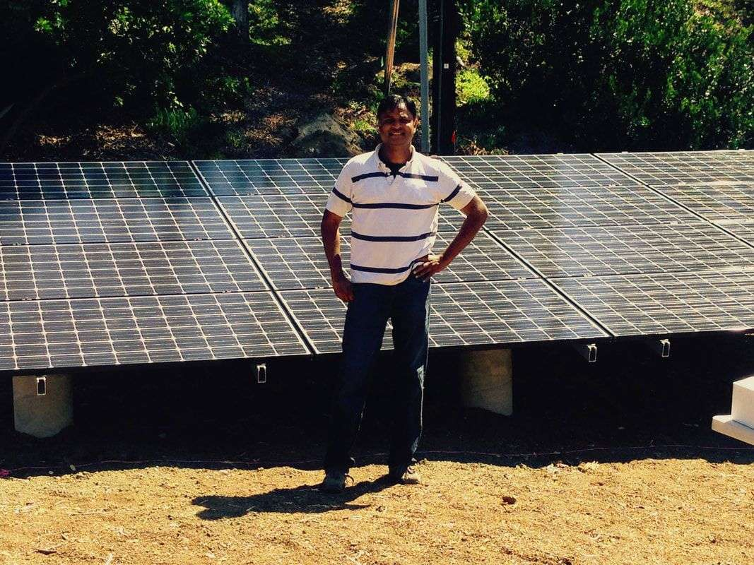 Sam Syed, owner of Green Energy EPC, completes 5.49kW DC installement in Rancho Santa Fe