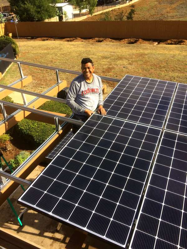 Moises completes a 5.49kW DC install in Escondido. SMA Secure Power Supply.