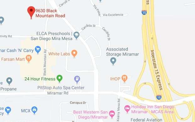 Zoom in map of Makello and Green Energy EPC Office at 9630 Black Mountain Road, Suite i, San Diego, CA 92126