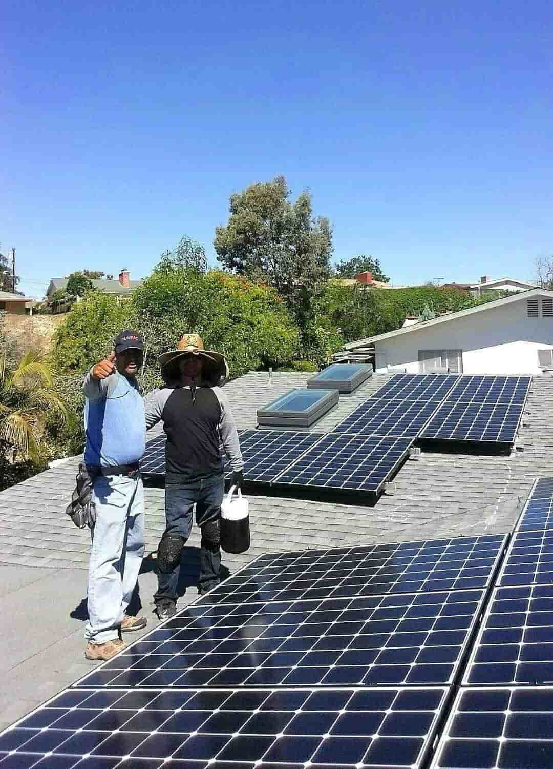 Moises and Albert complete a 7.32kW DC with MicroInverters in El Cajon