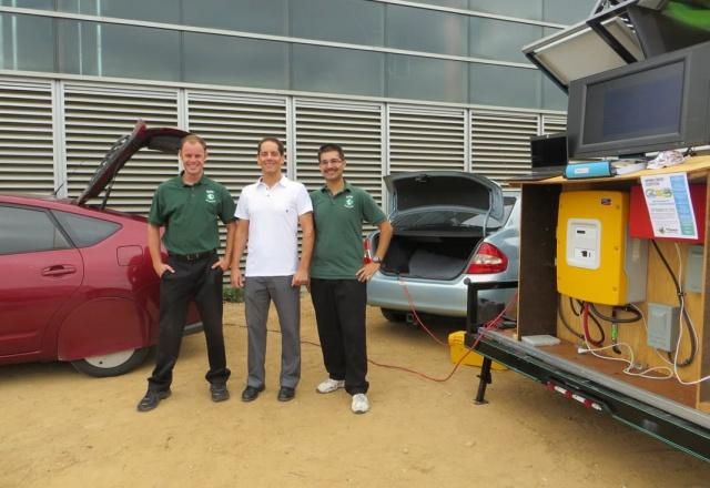 first ever Prius to Prius high voltage power transfer