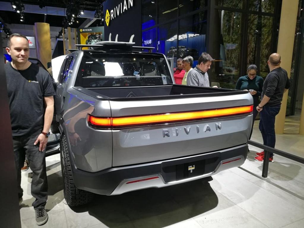 Rivian R1T electric truck on 2018 LA Auto Show