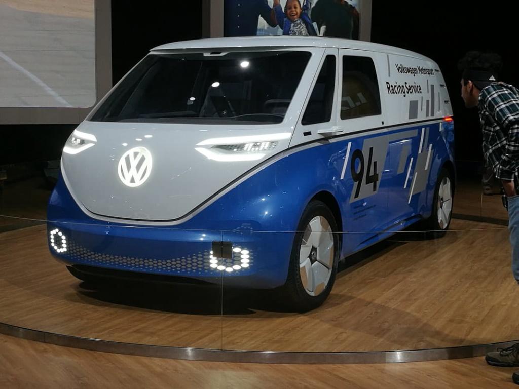 Volkswagen ID. Buzz Cargo concept on 2018 LA Auto Show