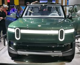 Rivian R1T electric truck on 2018 LA Auto Show