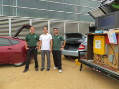 As a tour stop at UC San Diego for the 2013 Sustainability Tour, we demonstrated vehicle-to-vehicle (V2V) charging using Wipomo's energy solution.