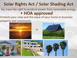Solar Rights Act & Solar Shading Act