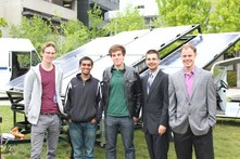 Engineers for a Sustainable World students with Solar Slider