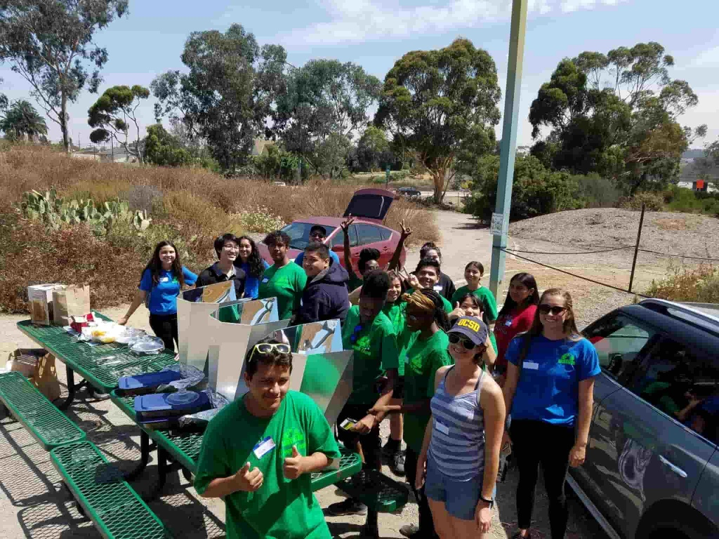 Groundwork San Diego EarthLab Green Team cooking solar chili