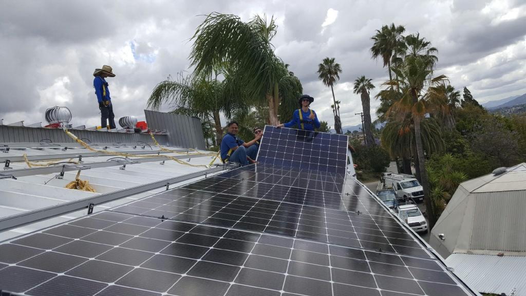 Makello position solar panels to maximize energy production.