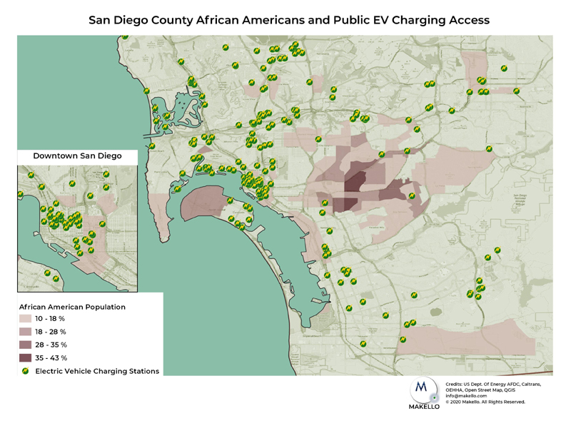 Few public EV chargers are in African American communities