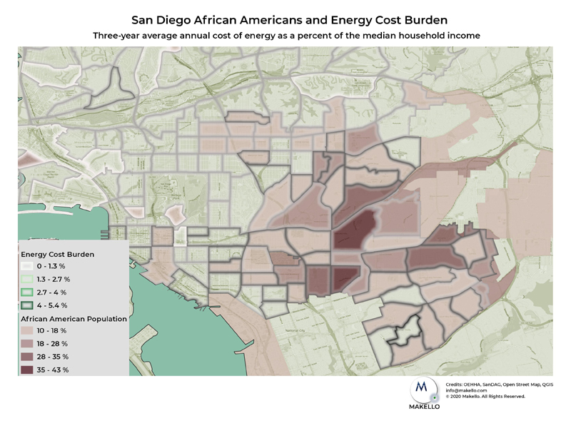 Energy cost impacting African American communities.