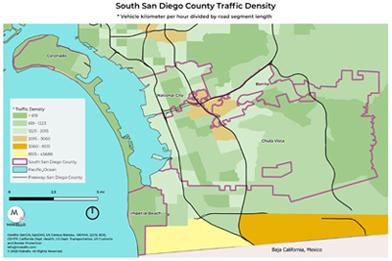 Traffic Density in South County San Diego