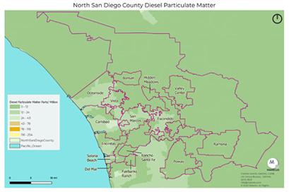 diesel particulate matter pollution North County San Diego