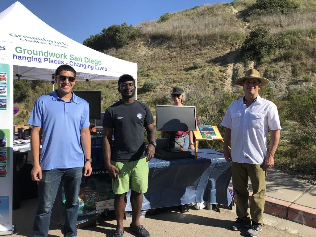 Makello team staffing booth at Groundwork San Diego event