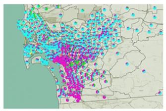 map data representation graphic