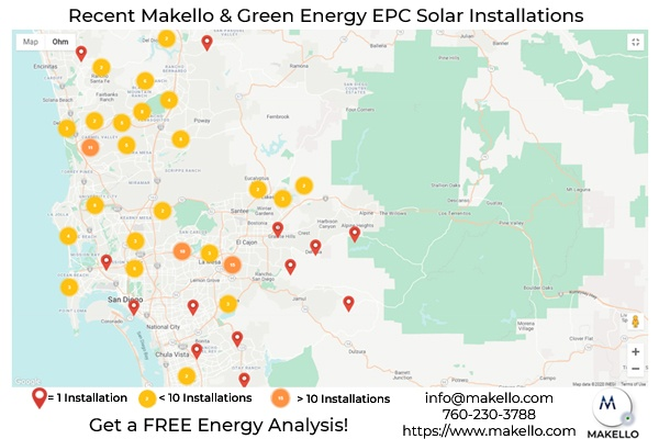 Makello and Green Energy EPC have over 700 solar installations in the SDG&E territory. Find out why we don't have roof leaks or electrical problems.