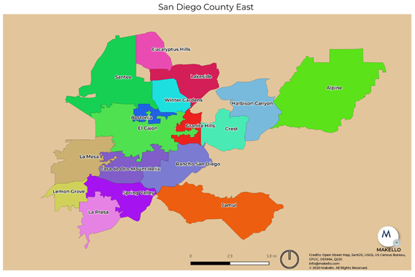 Makello service communities in East County San Diego