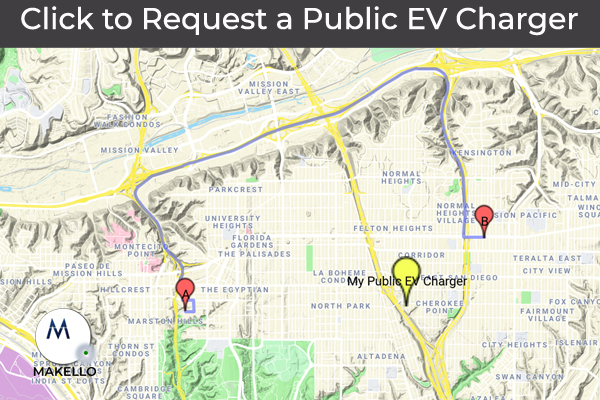 Request a Public Electric Vehicle Charger. CalEVIP program