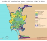 Solar Electric Installations In The City Of San Diego. There Are Many Areas Of High To Very High Access According To The San Diego Climate Equity Index.