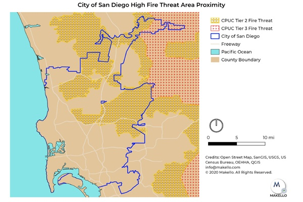 Some homes in the City of San Diego lie in High Fire Threat Districts and are eligible for additional SGIP Rebates.