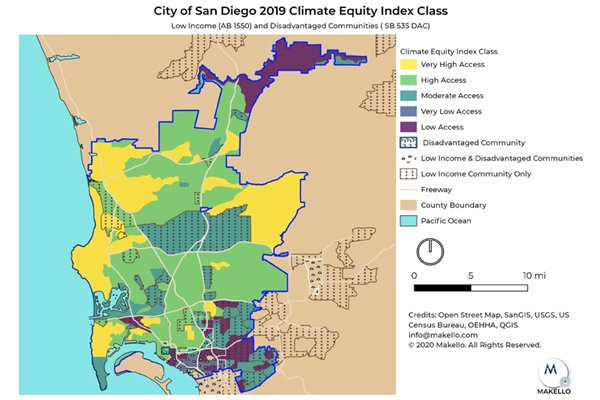 City of San Diego Climate Equity Index