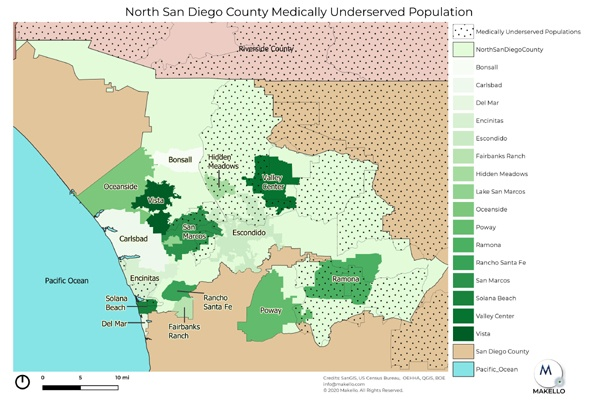 Many areas in North County San Diego are medically under-served.