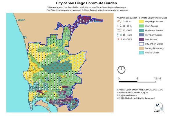 The City of San Diego Commute Burden