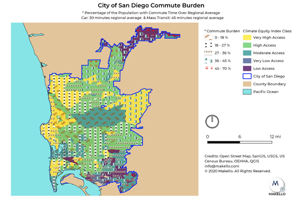 The City of San Diego Commute Burden