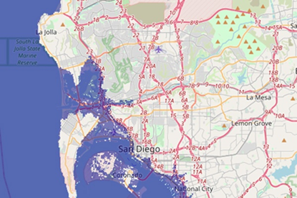 Sea level rise will greatly affect San Diego