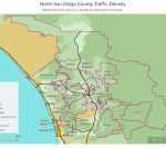 Traffic Density In North County San Diego