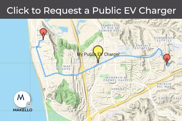 Request a Public Electric Vehicle Charger. CalEVIP program