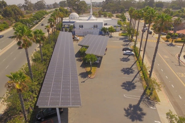 Makello and Green Energy EPC carport solar installation